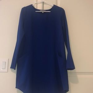Blue dress perfect for spring or fall